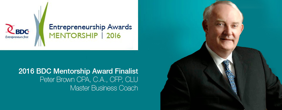 Peter Brown Mentorship Award Finalist